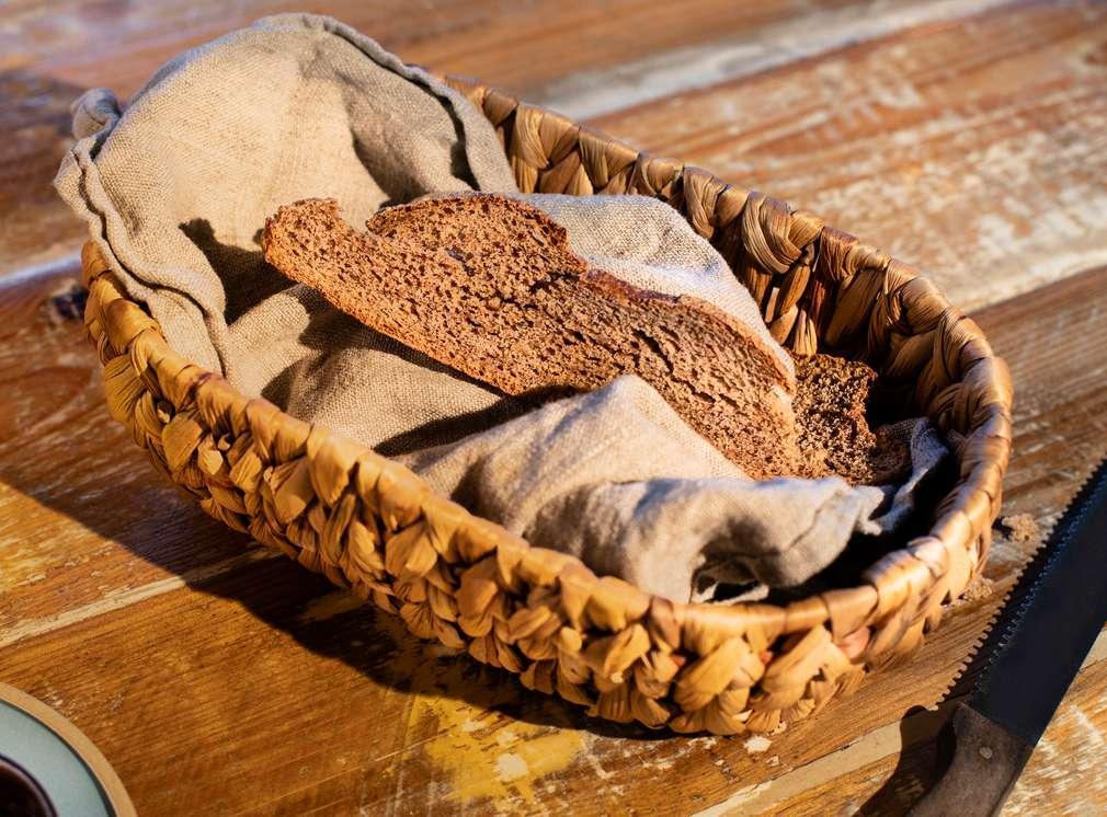 Abbildung von Brotschnitten in einem Brotkorb