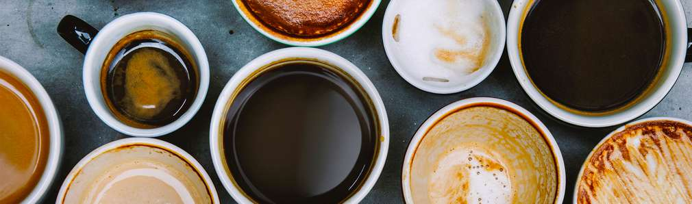 Kaffeetassen von oben