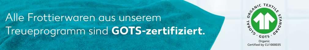 Hinweis GOTS-Zertifizierung