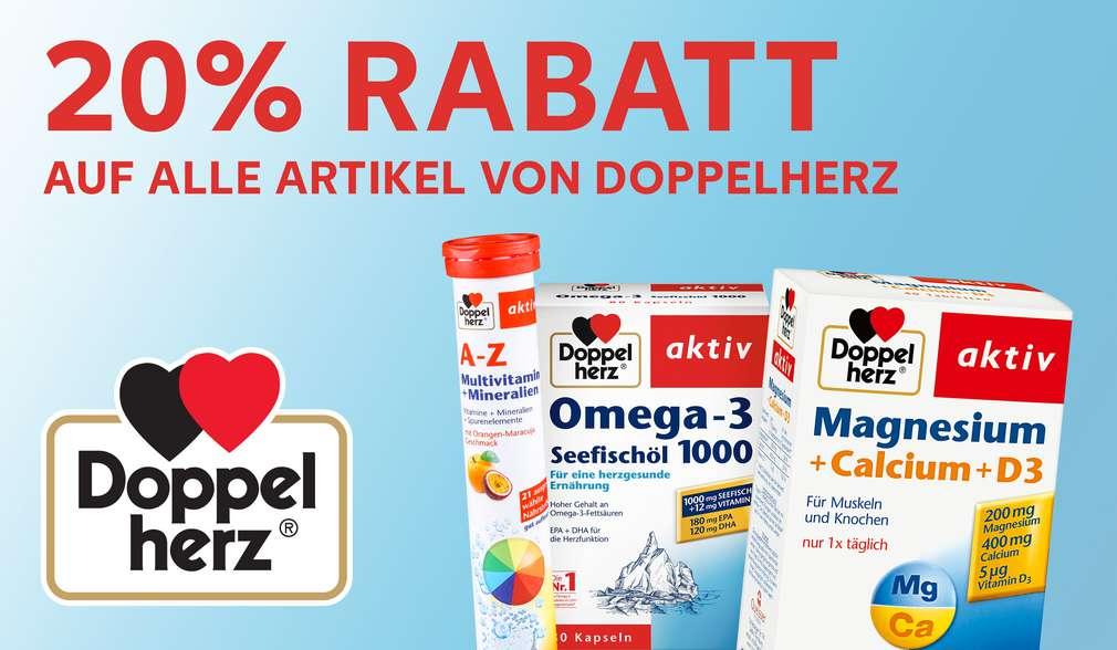 Rabattaktion: 20 % Rabatt auf alle Produkte von DOPPELHERZ