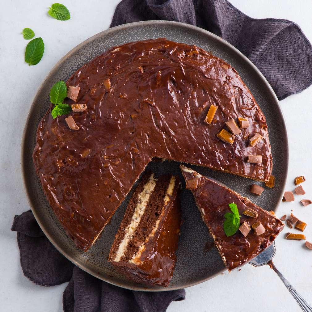 Abbildung des Rezepts Daim-Torte (Karamell-Mandel-Torte)