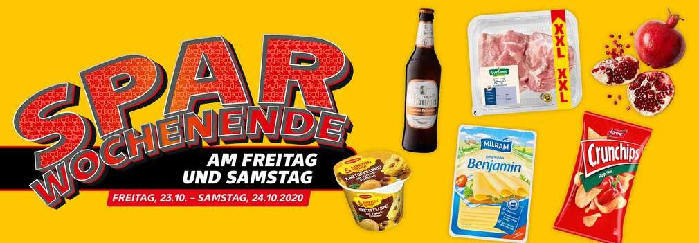versch. Spar-Wochenende-Angebote; Button: Sparen am Wochenende