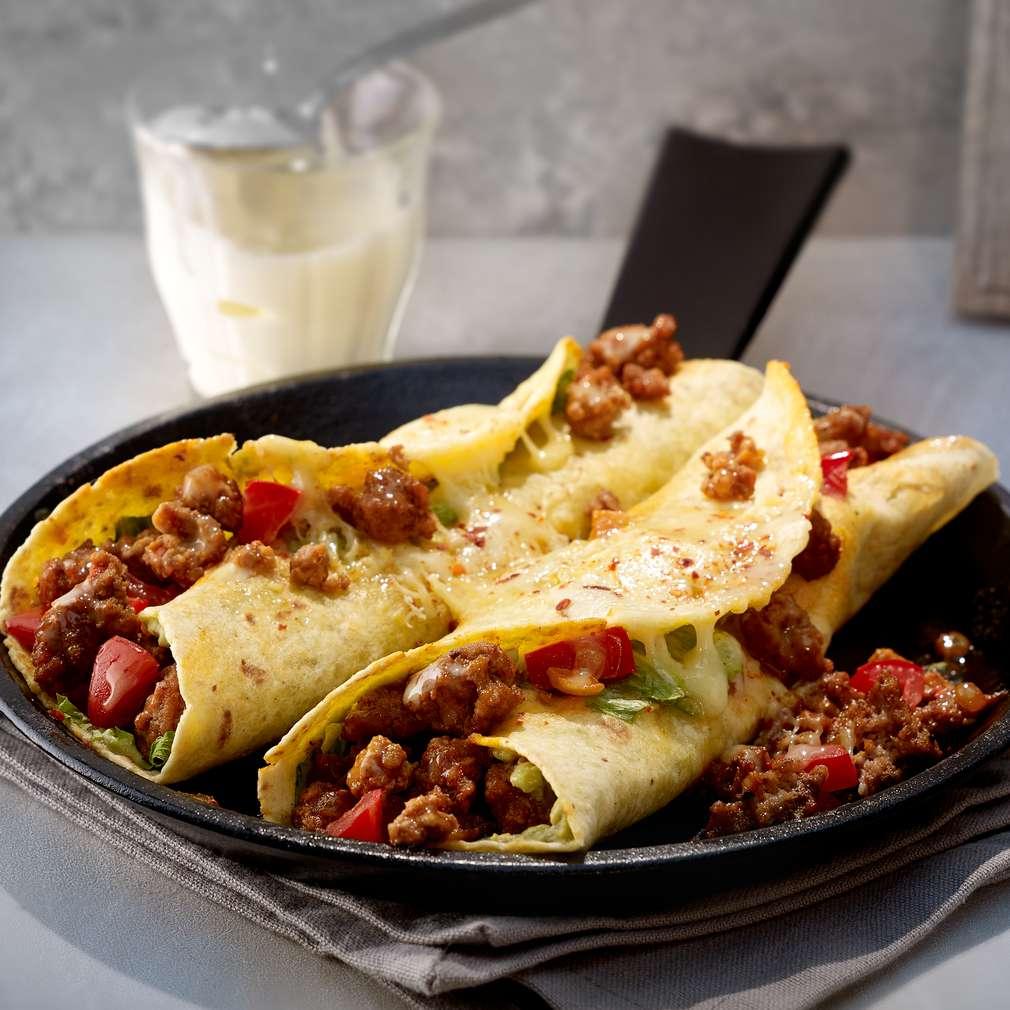 Abbildung des Rezepts Hackfleisch-Burritos