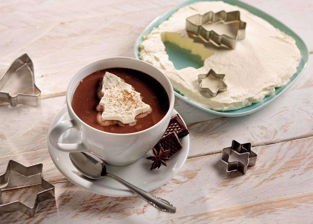 Sahne heiße Schokolade