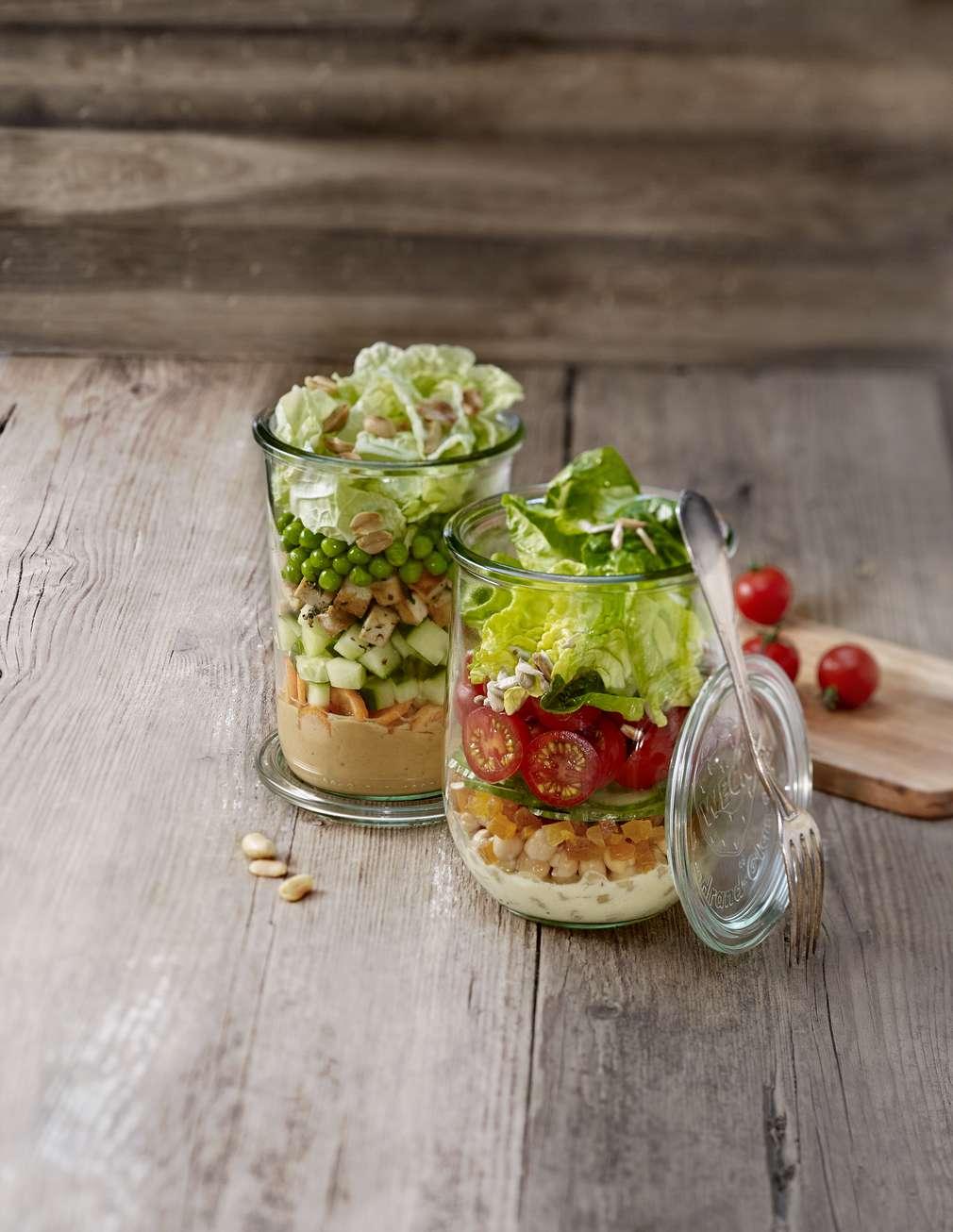 Für unterwegs – Salat im Glas