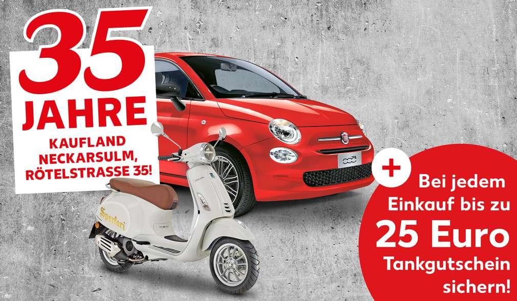 Beispiel-Gewinnabbildungen: Fiat 500 und Vespa Primavera