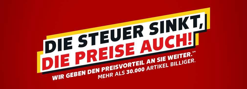 Die Steuer sinkt, die Preise auch!