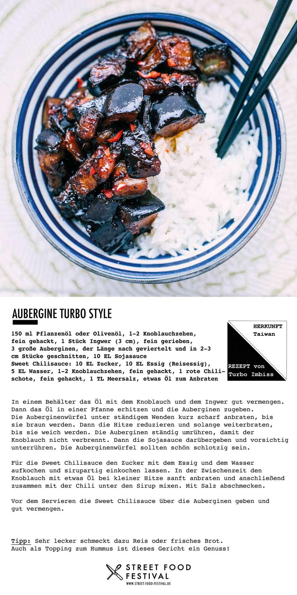Street Food Rezept Aubergine Turbo-Style