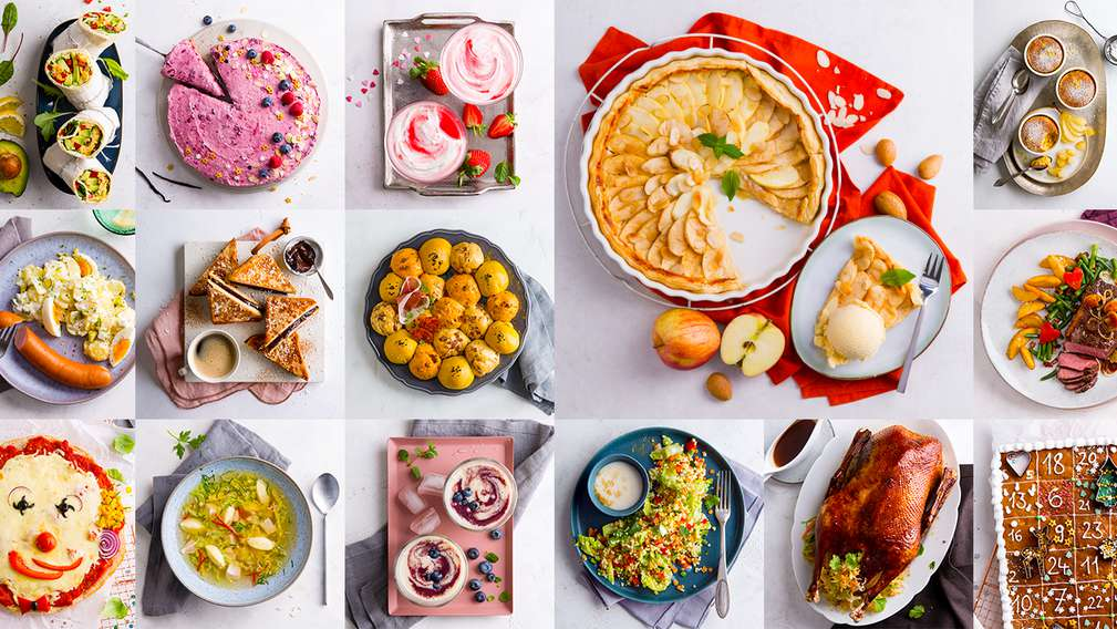 Collage mit Rezeptbildern