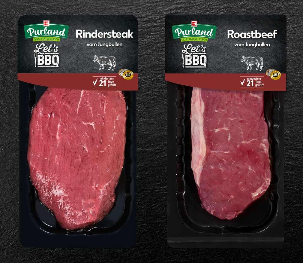 Rindfleisch in der Reifepackung