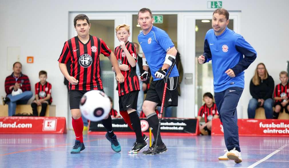 Fußballspieler in Halle