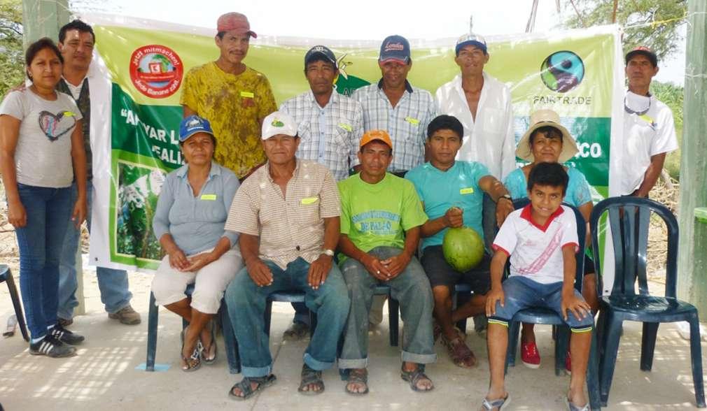 Gruppenbild von Bananenbauern