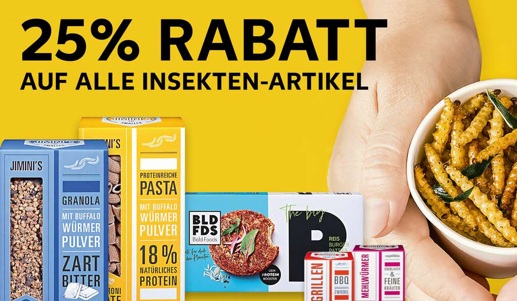 Rabattaktion: Insektensnacks