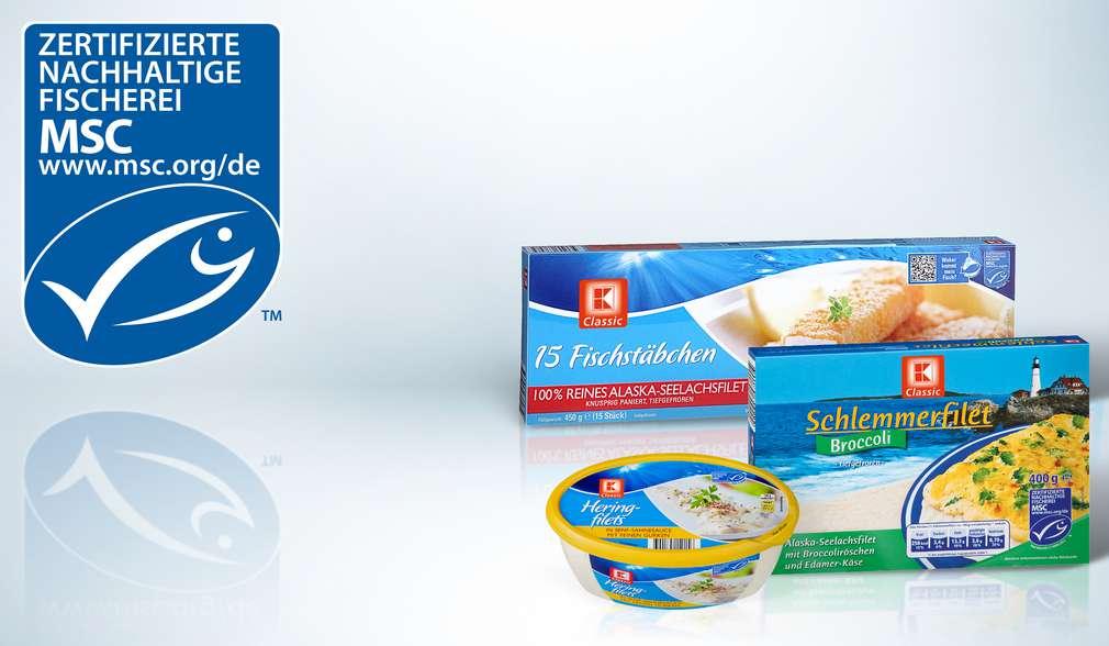 Fischprodukte aus nachhaltigem Fischfang mit MSC-Siegel