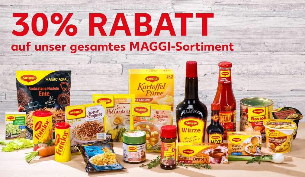 Rabattaktion: 30 Prozent auf MAGGI-Sortiment
