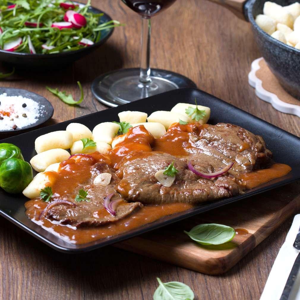 Fotografija recepta Pržena jetrica s njokima i umakom