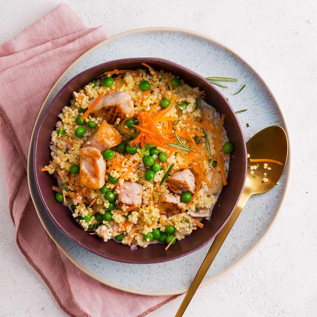 Fotografija recepta Piletina s prosom i graškom