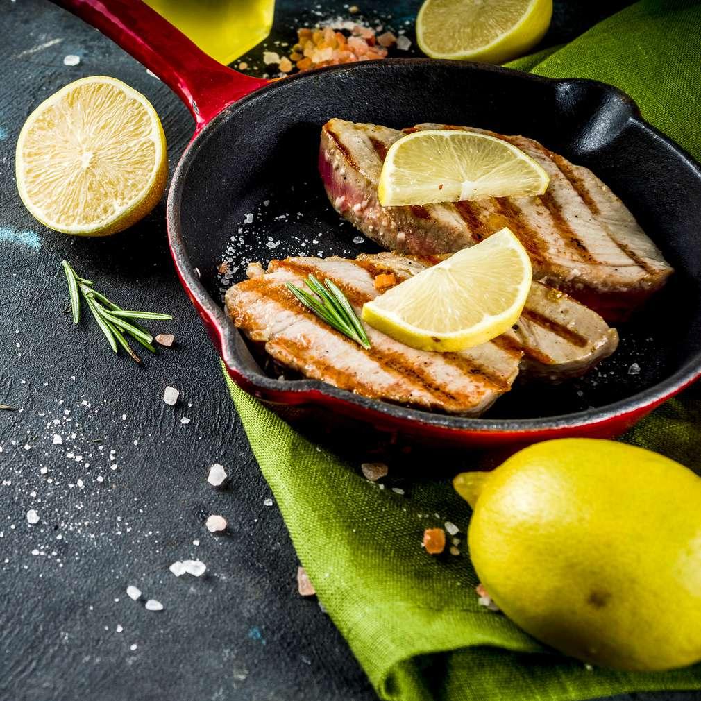 Fotografija recepta Marinirani odresci od tune s ljutom salsom