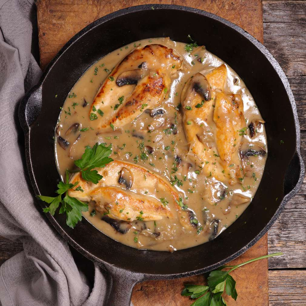 Fotografija recepta Piletina s gljivama