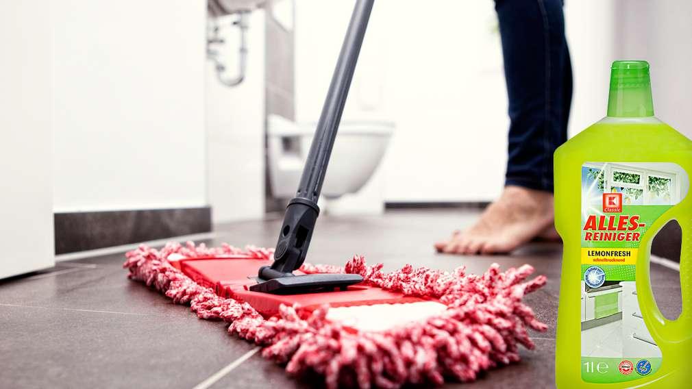 Pranje poda u kupaonici proizvodima K-Classic