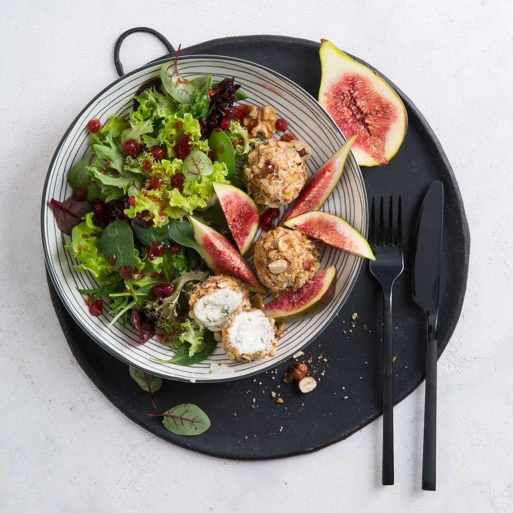 Fotografija recepta Kremaste kuglice sa svježim smokvama
