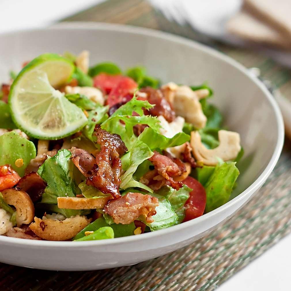 Fotografija recepta Brza salata s rajčicom i pancetom
