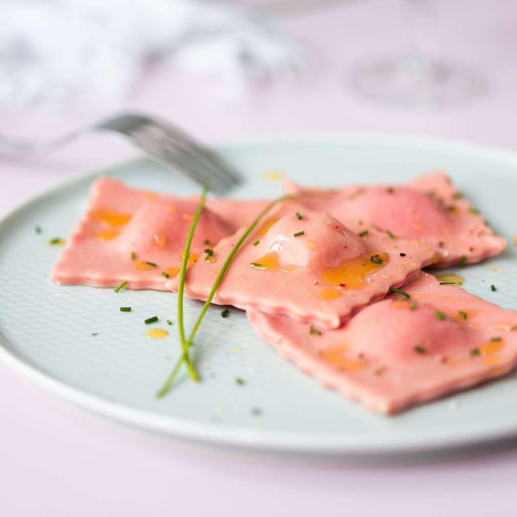 Fotografija recepta Domaći ravioli punjeni ricotta i feta sirom