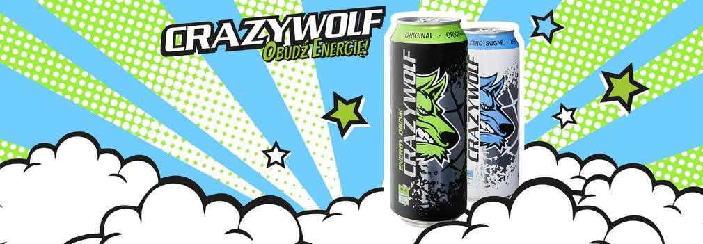 Zdjęcie dwóch puszek Crazy Wolf o smaku Żeń-szeń & Guarana