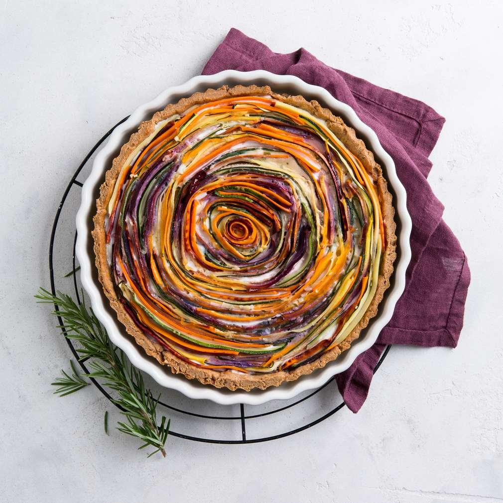 Zdjęcie przepisu Kosmiczny quiche z marchewkami