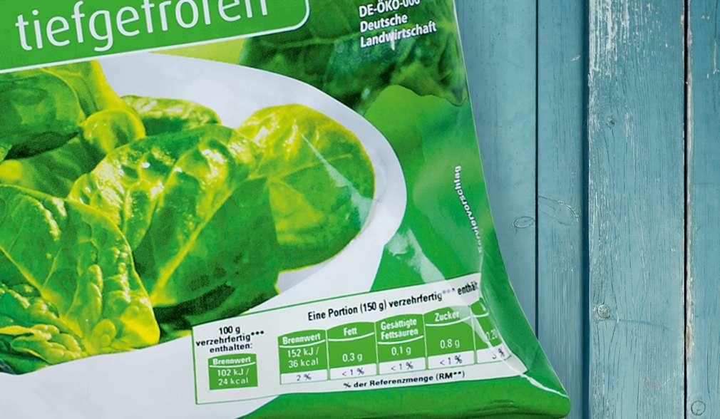 Etichetă informații nutriționale K-Bio