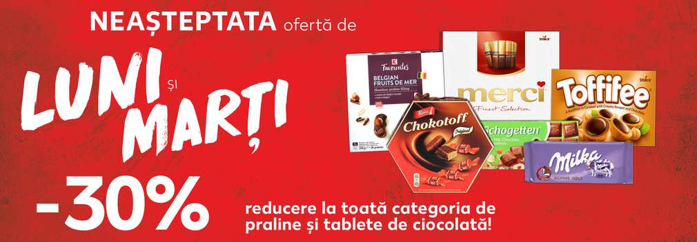 Reducere de categorie - ciocolată