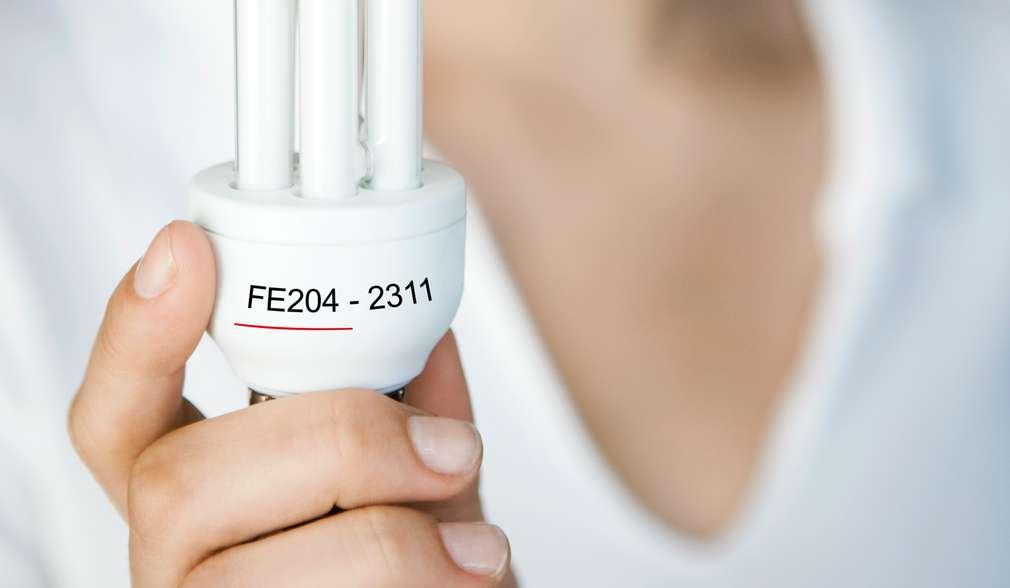 Produktové číslo úspornej žiarovky