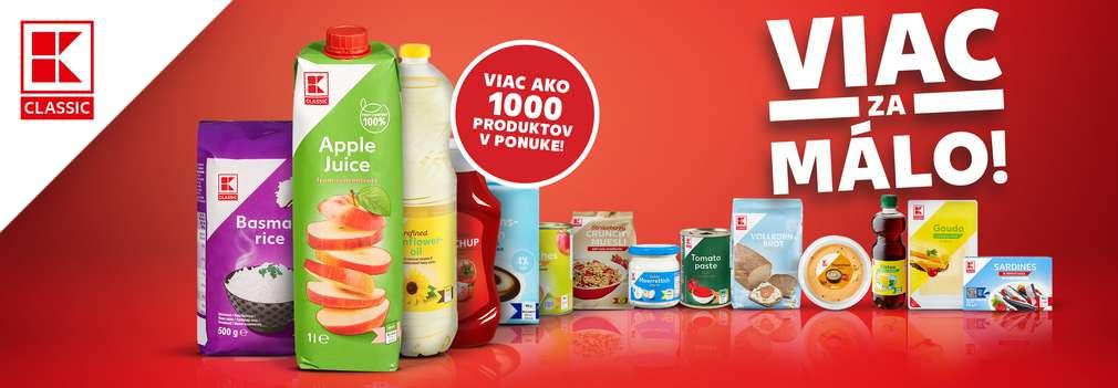 Koláž produktov K-Classic