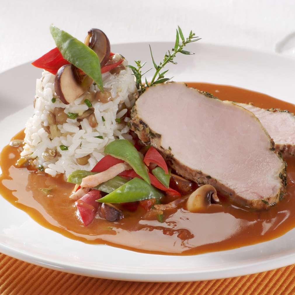 Imaginea rețetei Medalion de porc la cuptor, cu sos brun