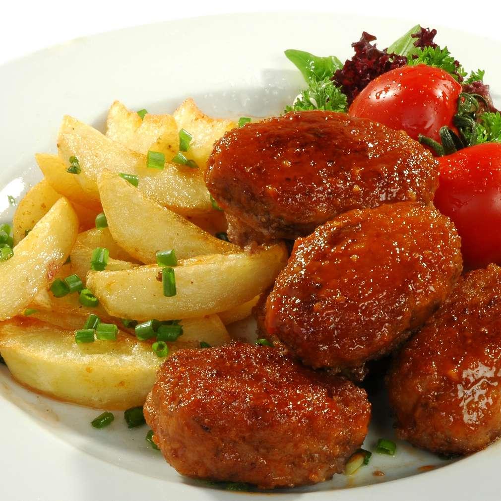 Imaginea rețetei Chifteluțe marinate cu cartofi