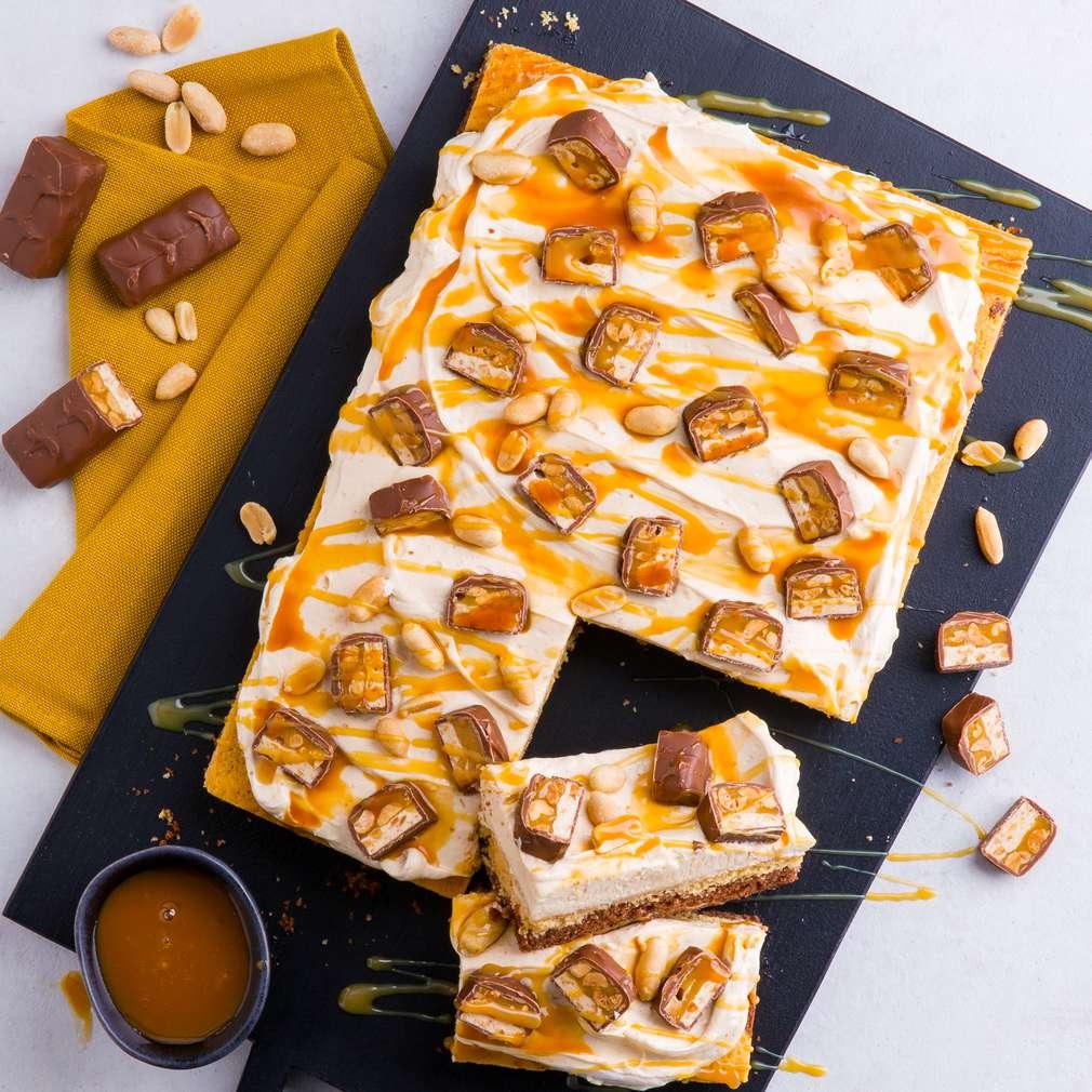 Abbildung des Rezepts Snickers-Kuchen (Erdnussbutter-Kuchen)