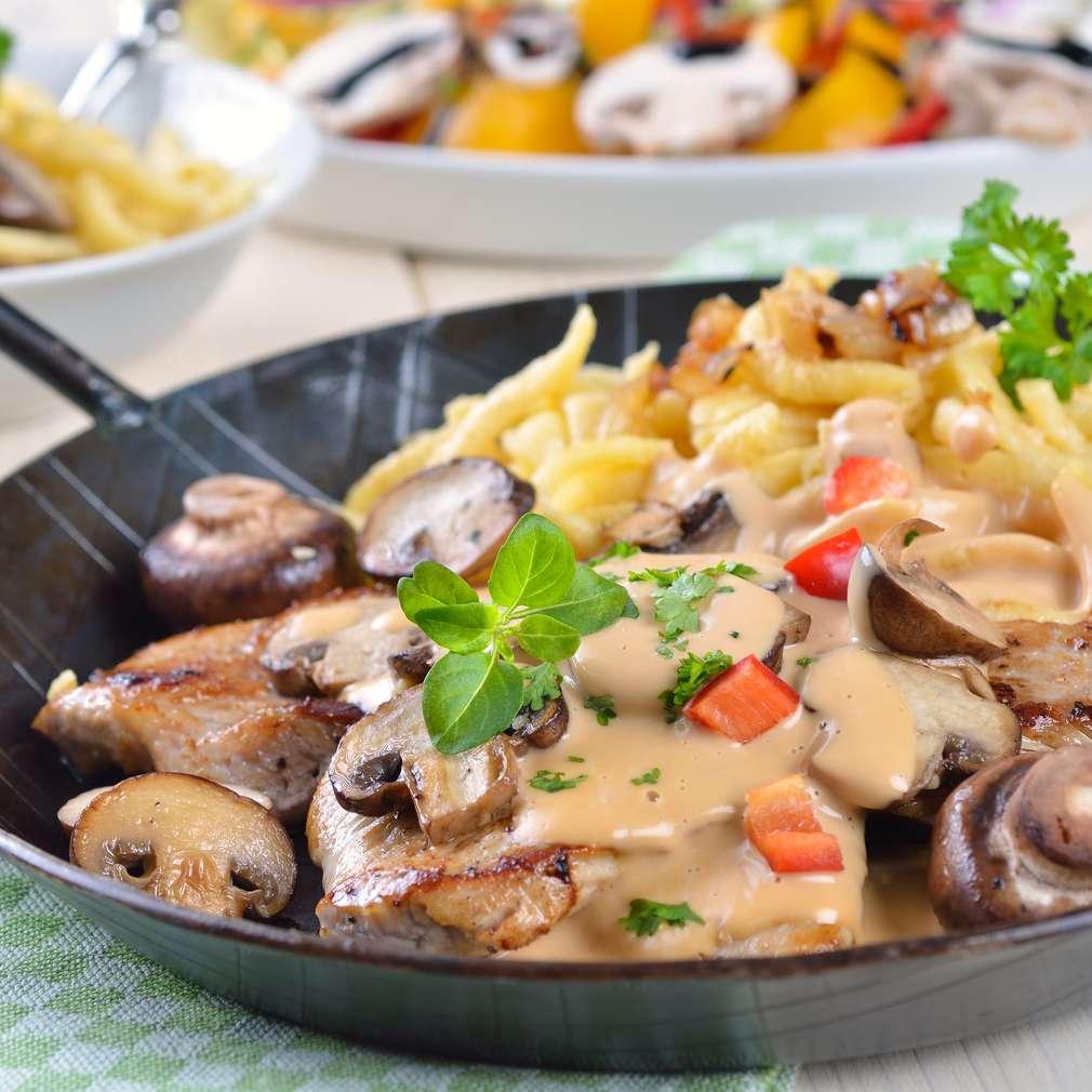 Imaginea rețetei Escalop de vită cu ciuperci