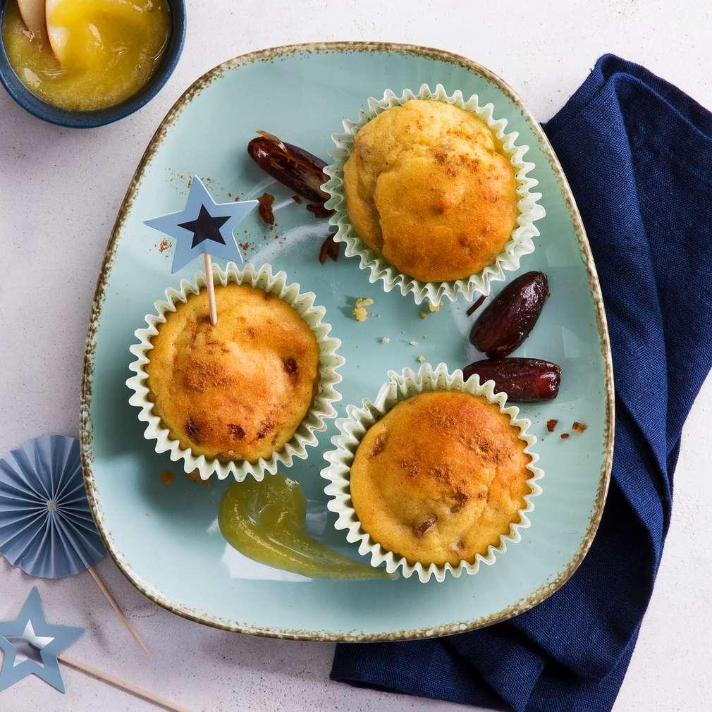 Abbildung des Rezepts Zuckerarme Apfelmus-Muffins