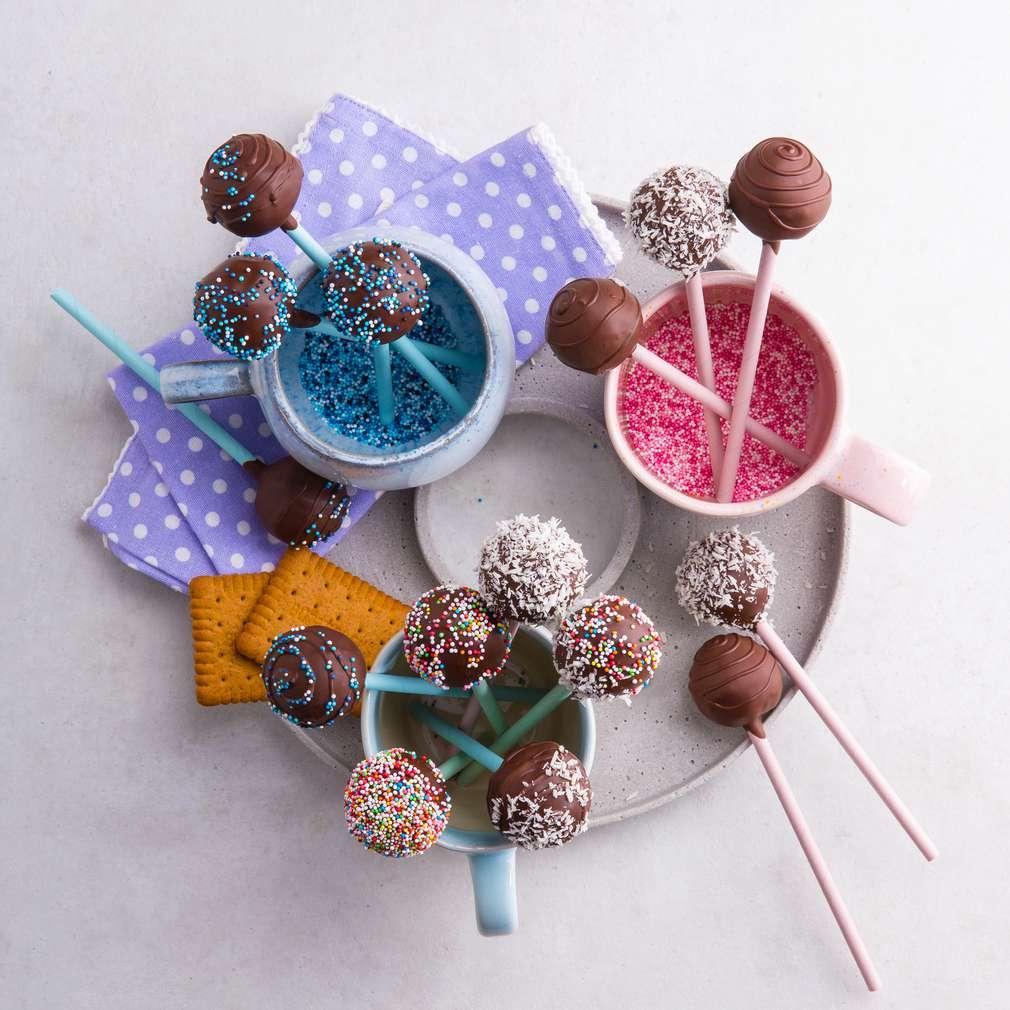 Abbildung des Rezepts Cookie-Pops ohne Backen