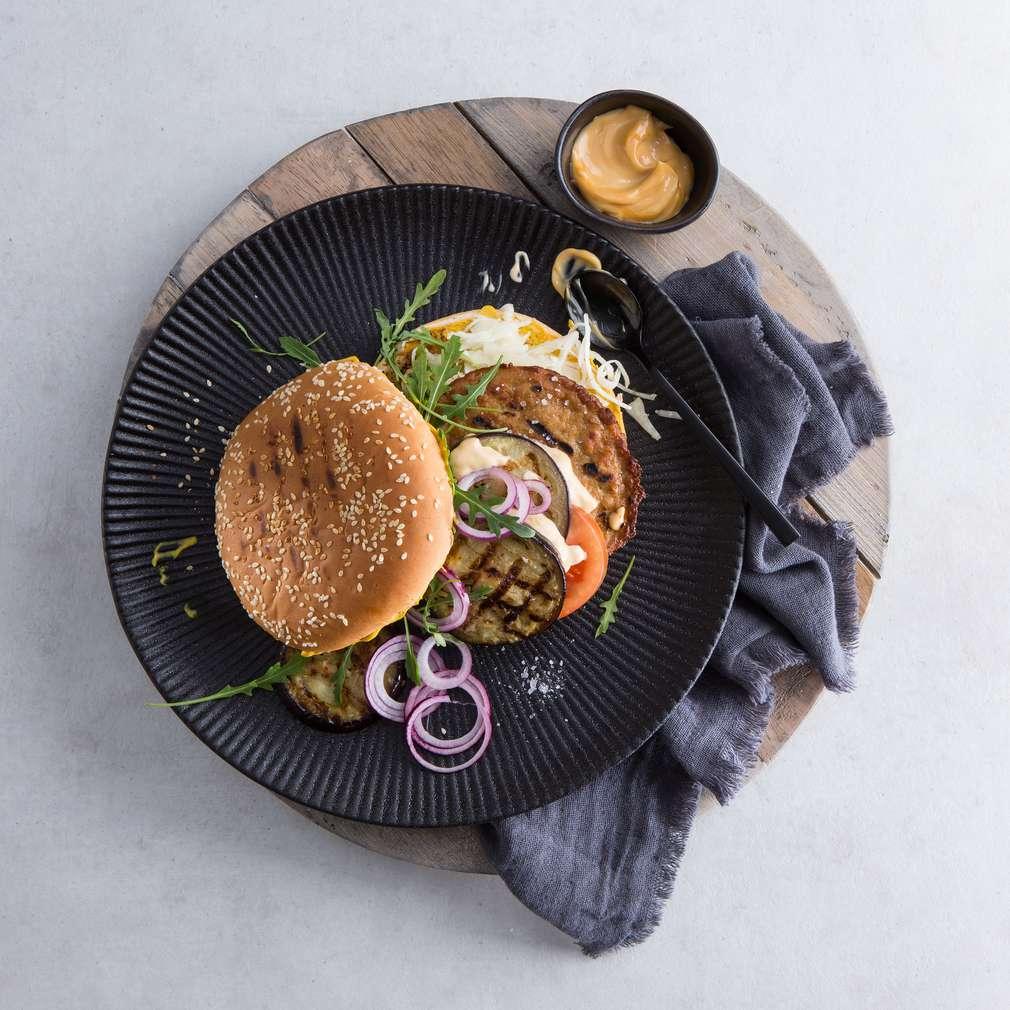 Zobrazit Vegetariánský burger s lilkem receptů