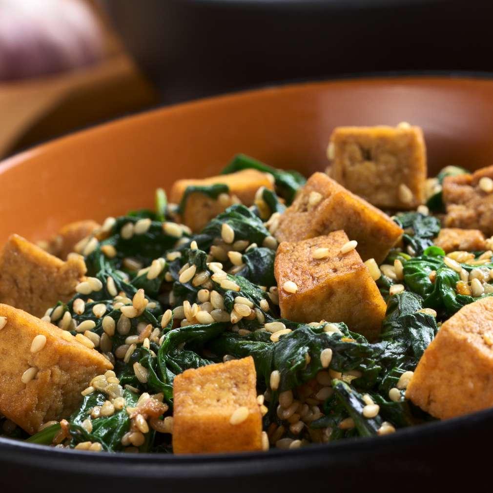 Imaginea rețetei Tofu cu spanac și susan
