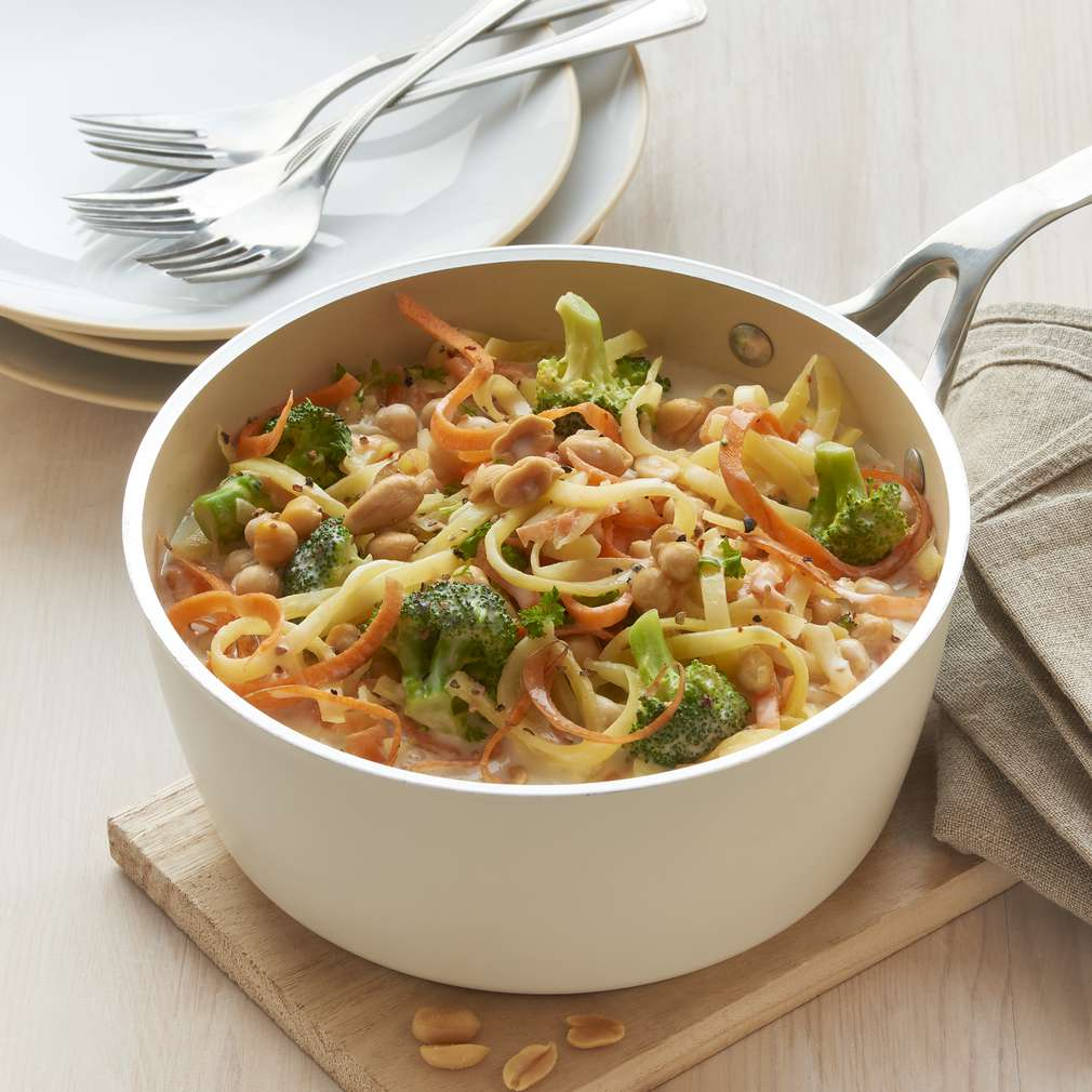Abbildung des Rezepts One-Pot-Gemüsespaghetti-Bowl