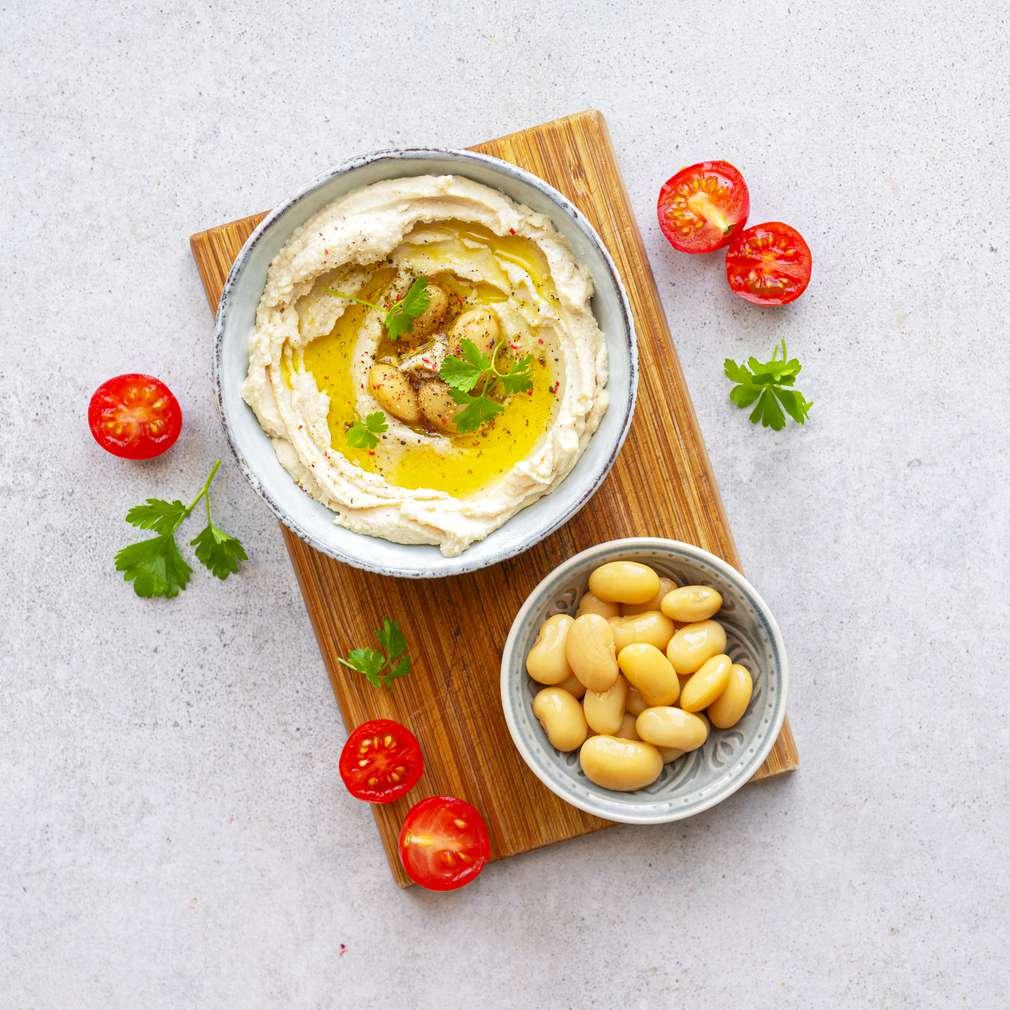 Zobrazit Pomazánka z bílých fazolí receptů