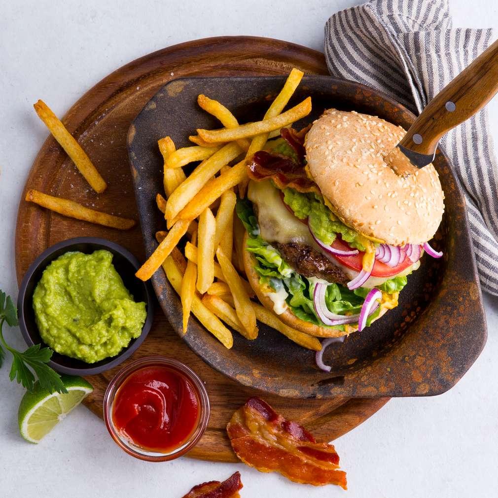 Abbildung des Rezepts Guacamole-Bacon-Burger