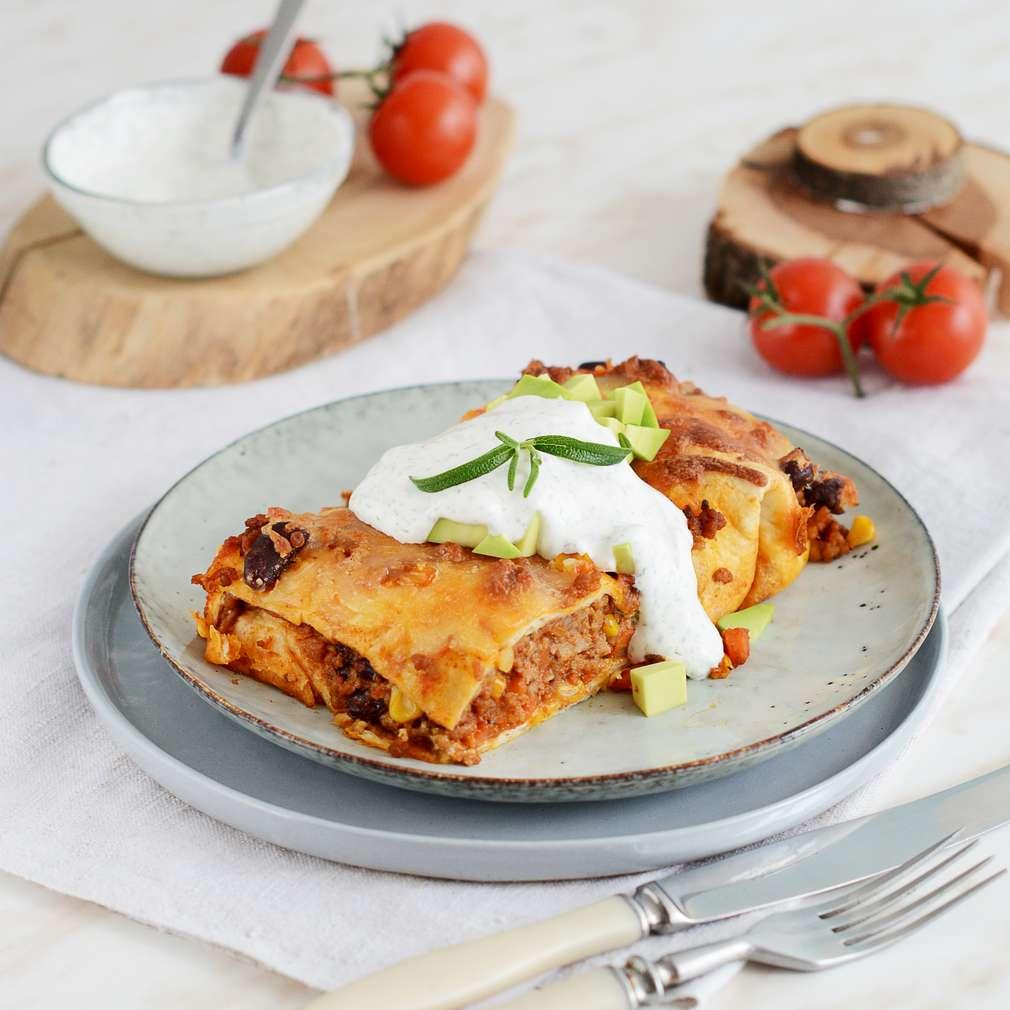 Zobrazenie receptu Enchiladas s mletým mäsom