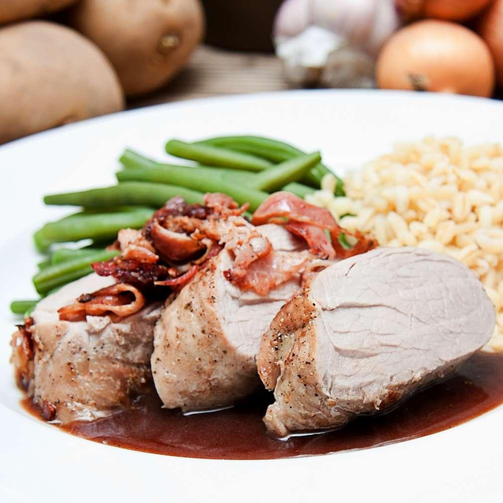 Imaginea rețetei Mușchi file de porc cu orez și sos de soia