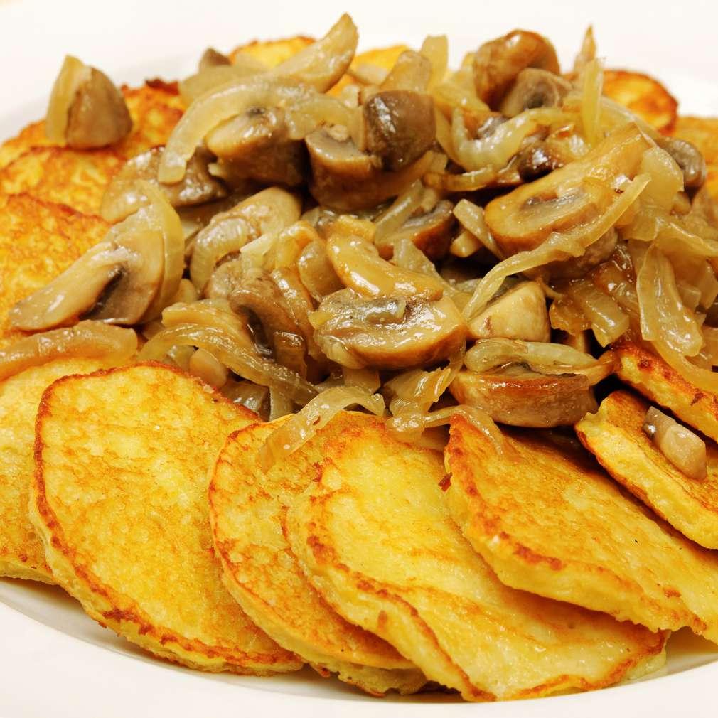 Imaginea rețetei Rondele de cartofi cu ciuperci