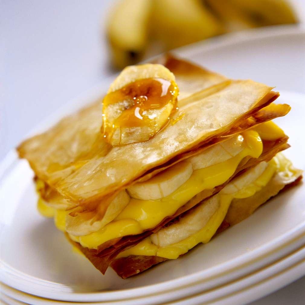 Изобразяване на рецептата Бананов Наполеон