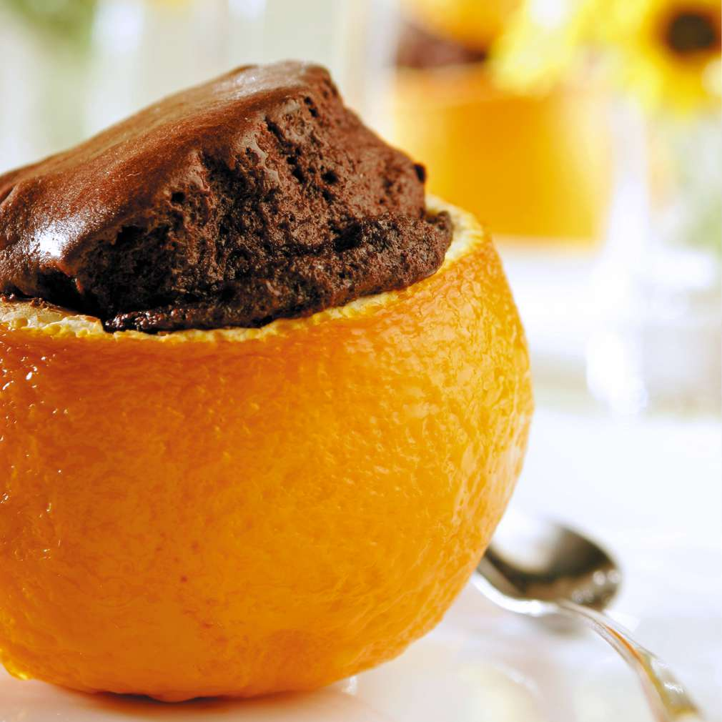 Изобразяване на рецептата Шоколадов кейк в портокал