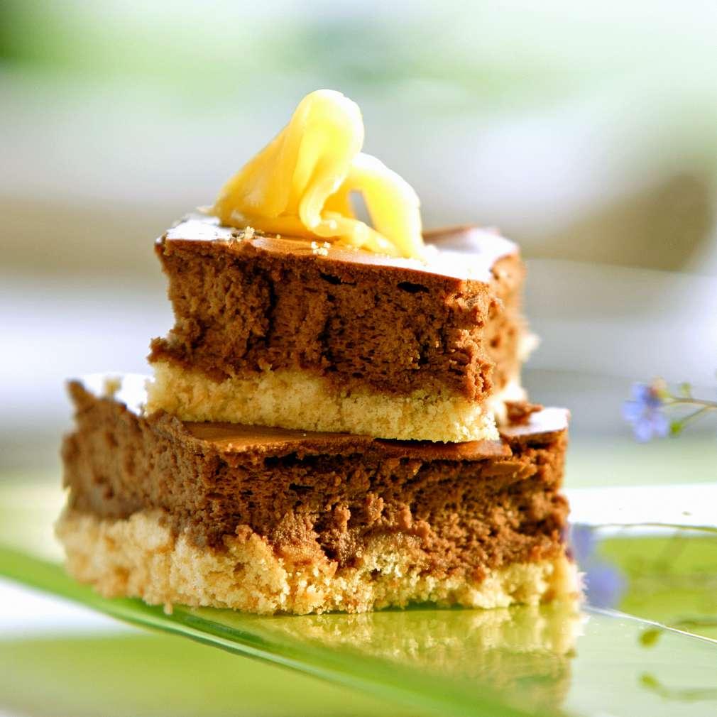 Изобразяване на рецептата Шоколадов чийзкейк с манго